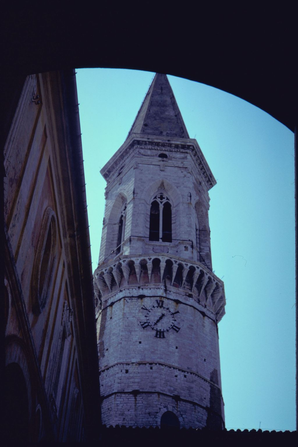 The tower of the Church of San Pietro, Perugia.