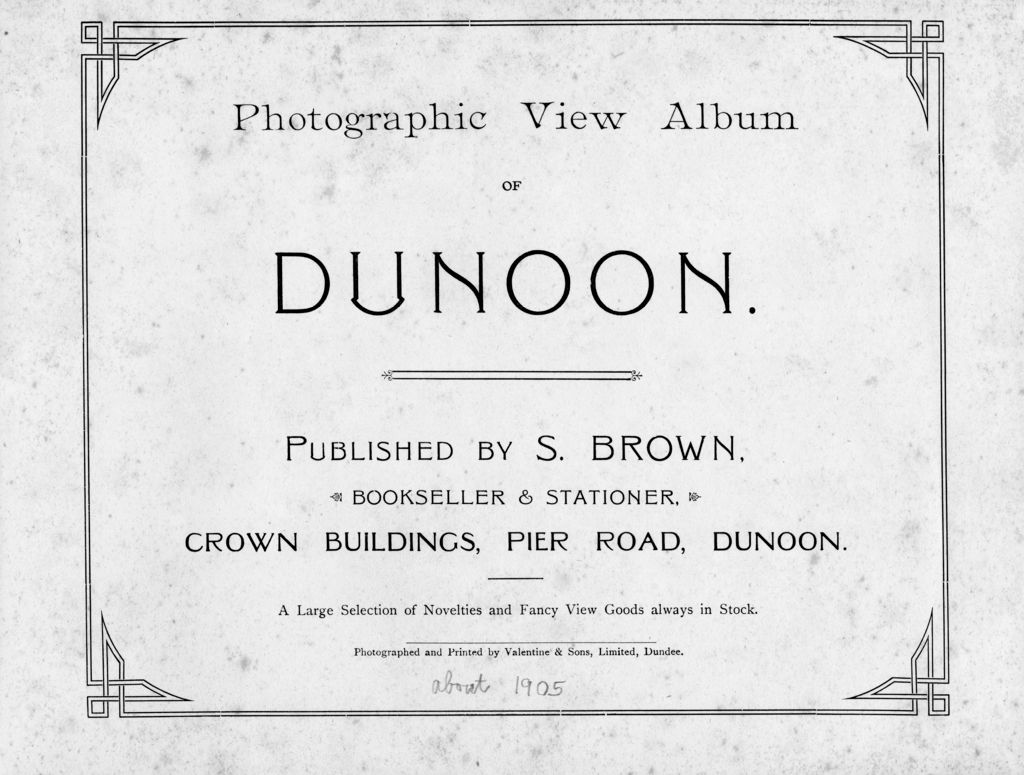 Photographic View Album of Dunoon.