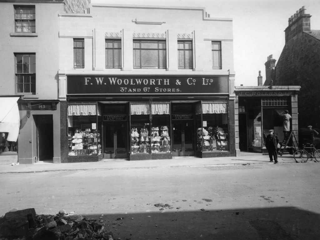 F W Woolworth shopfront, Market Street, St Andrews.