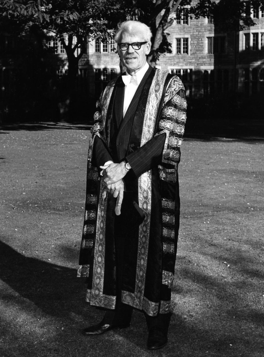 Sir Kenneth Dover after his Installation, St Andrews