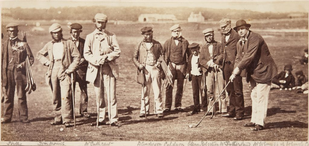 Group of golf players.
