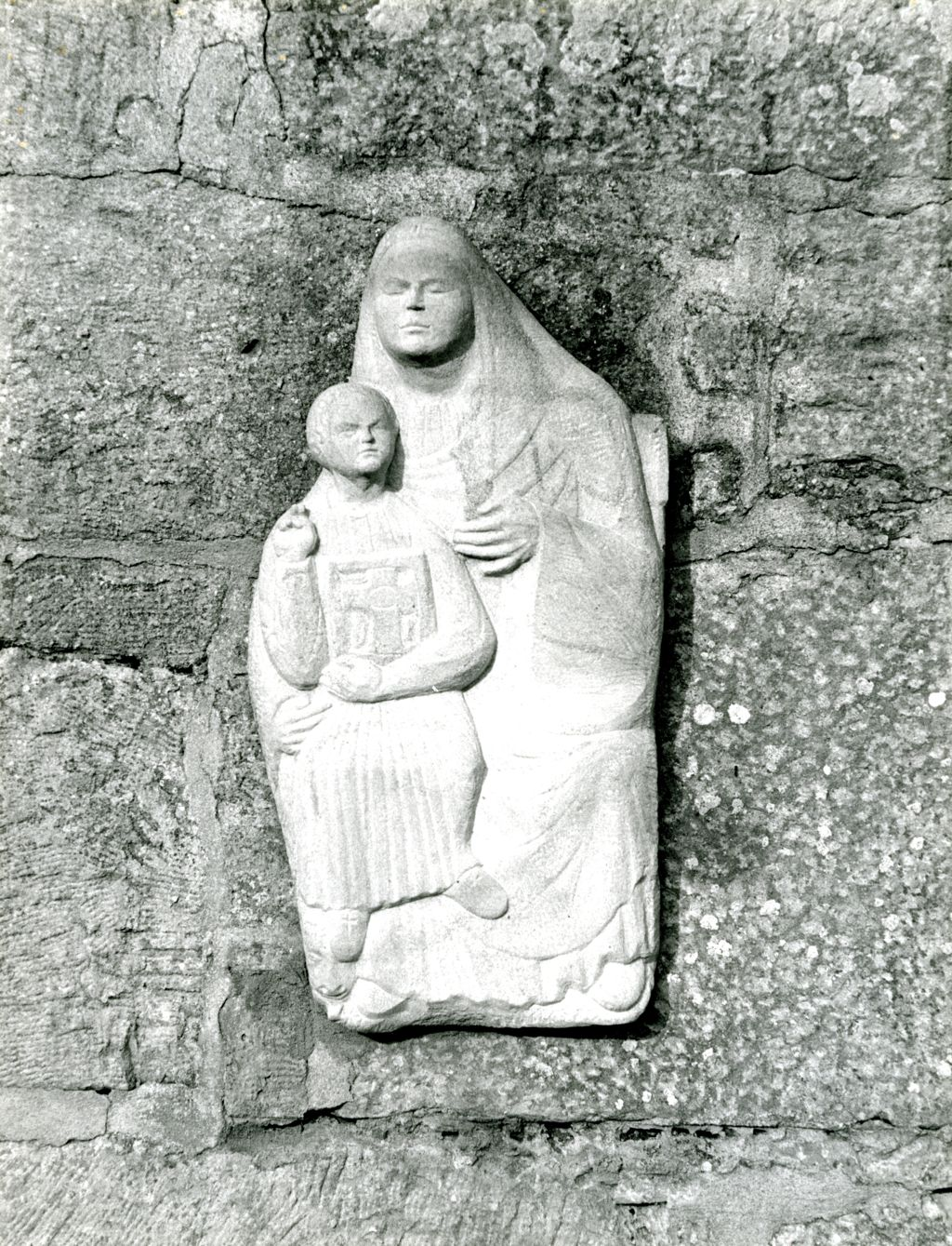 Madonna and Child carving.