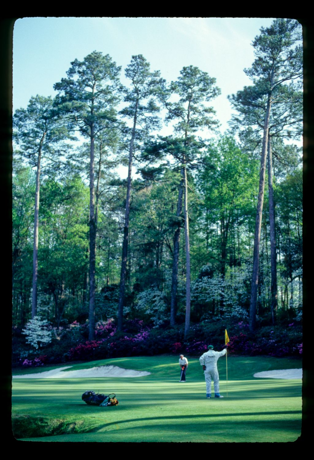 Gay Brewer putting on the 13th during the 1981 Masters