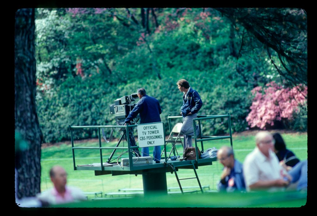 CBS cameramen in action at the 1981 Masters