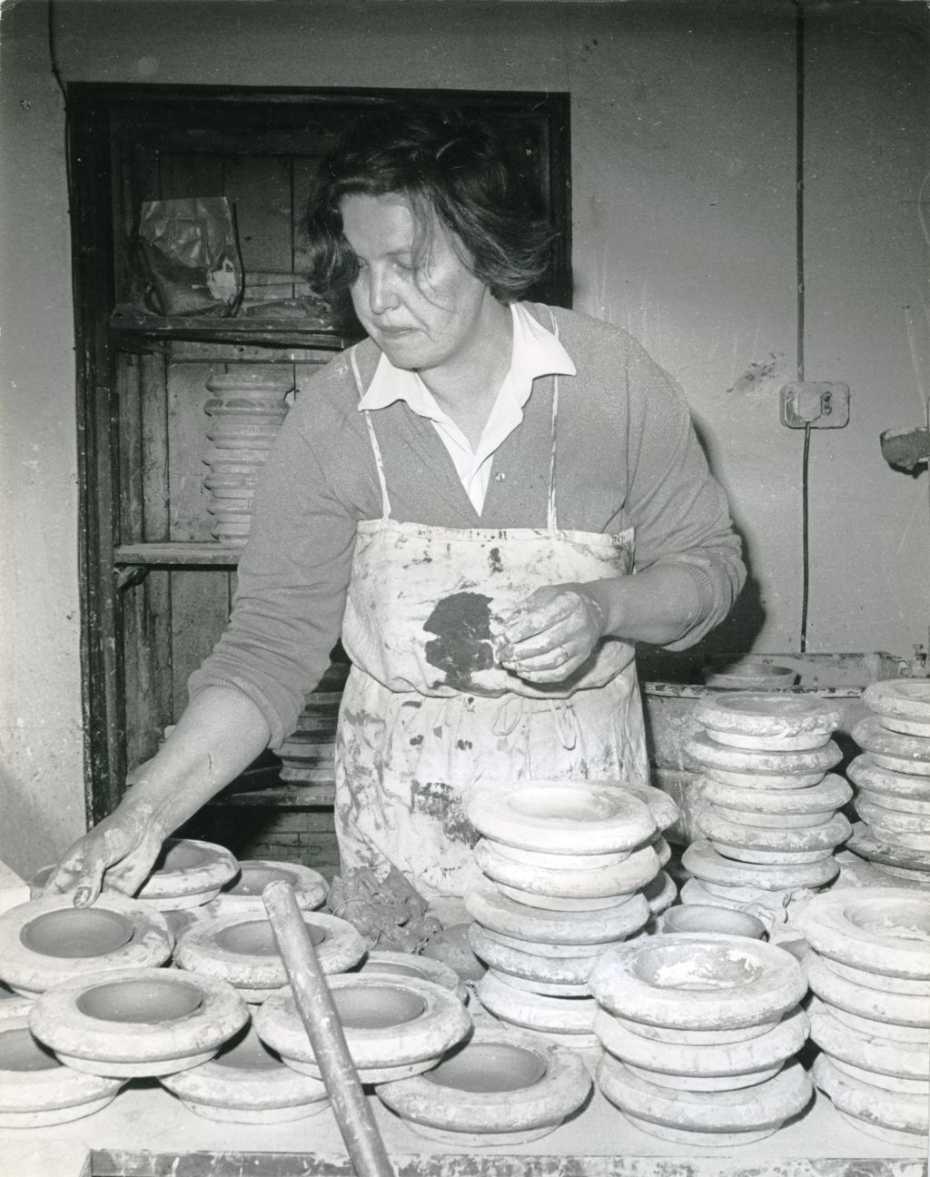 A Dunn in the pottery, Cromarty.