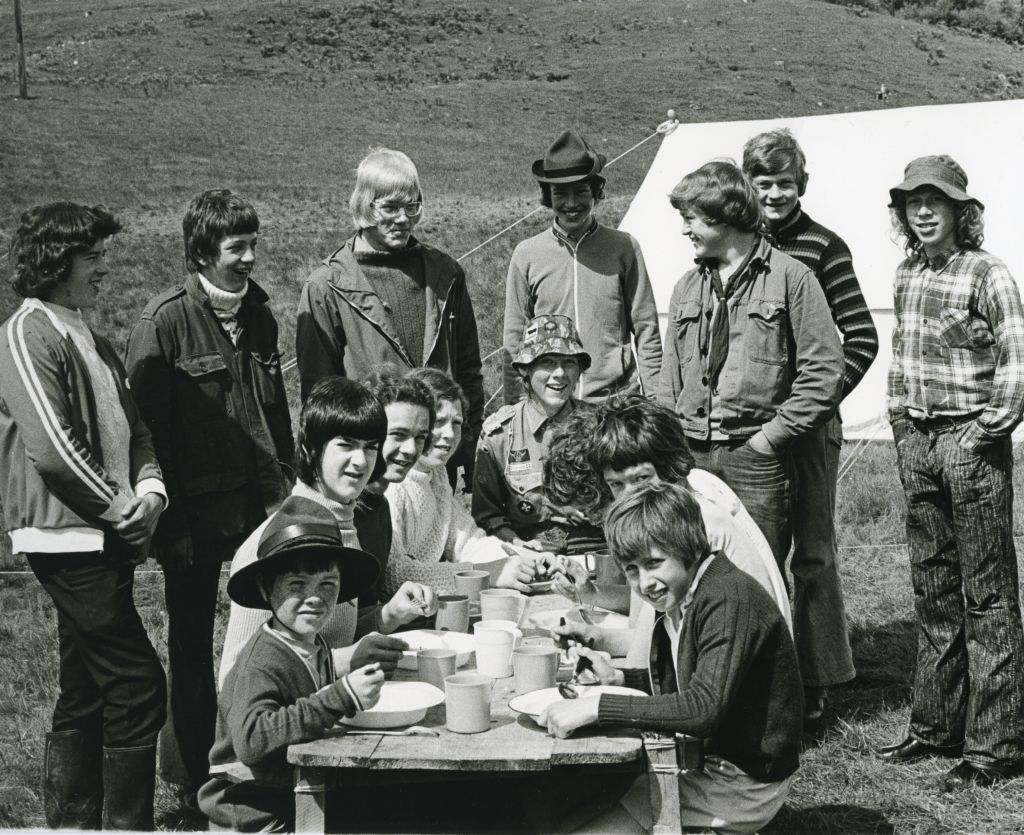Scout camp at Kincraig, Badenoch