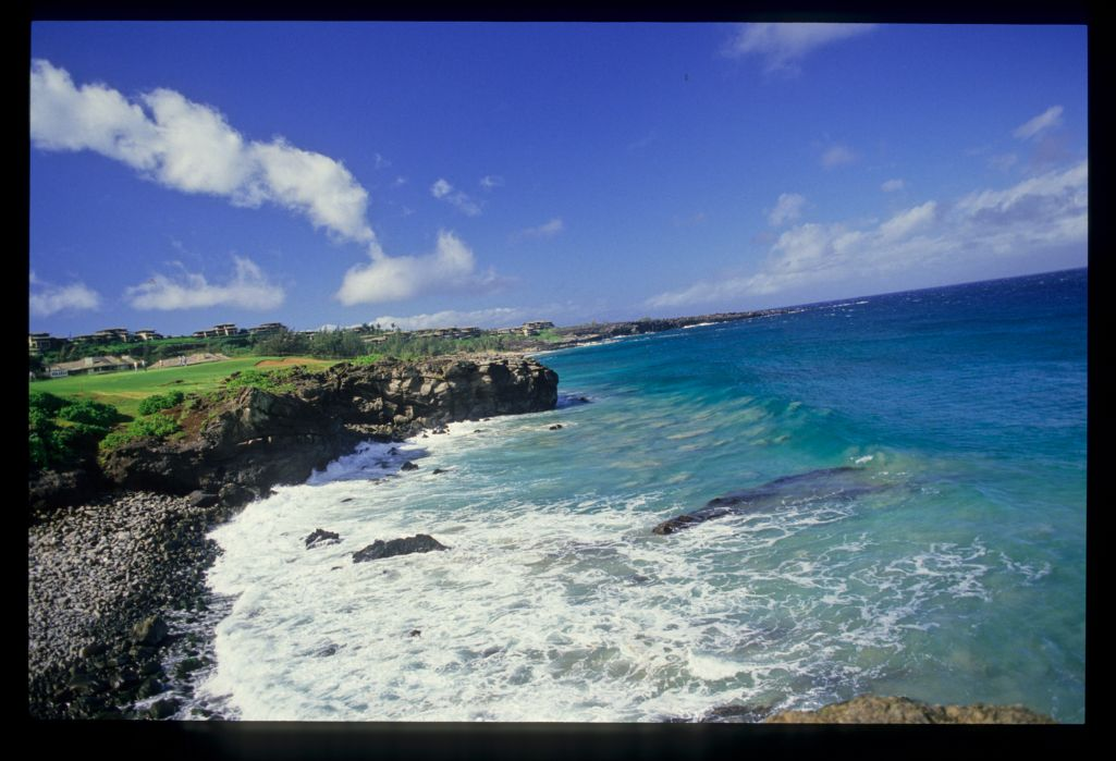 A seaside view of the Kapalua Bay Course