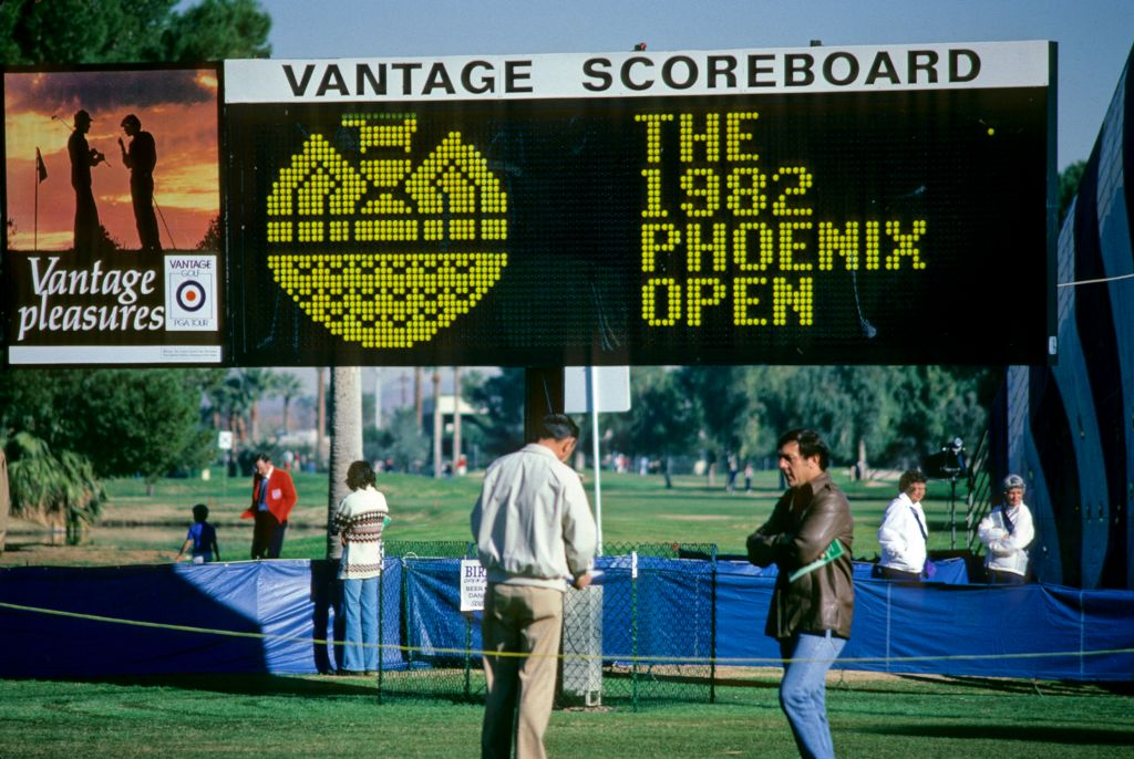 The Vantage signboard at the 1982 Phoenix Open Championship at the Phoenix Country Club