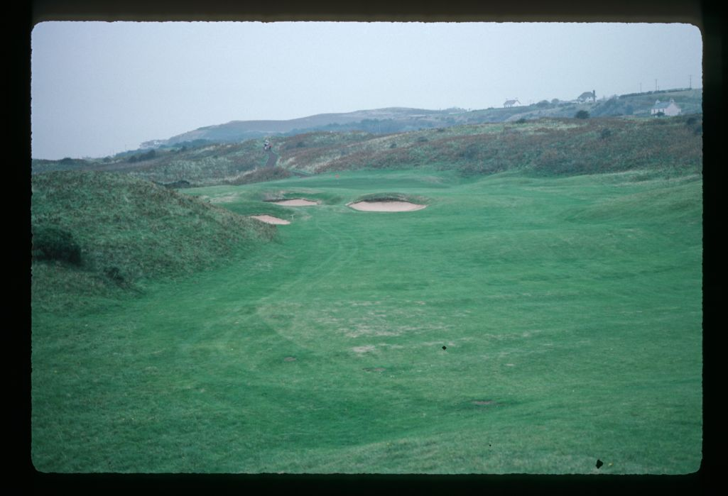 A view from the fairway of the 2nd hole at Royal Portrush Golf Club