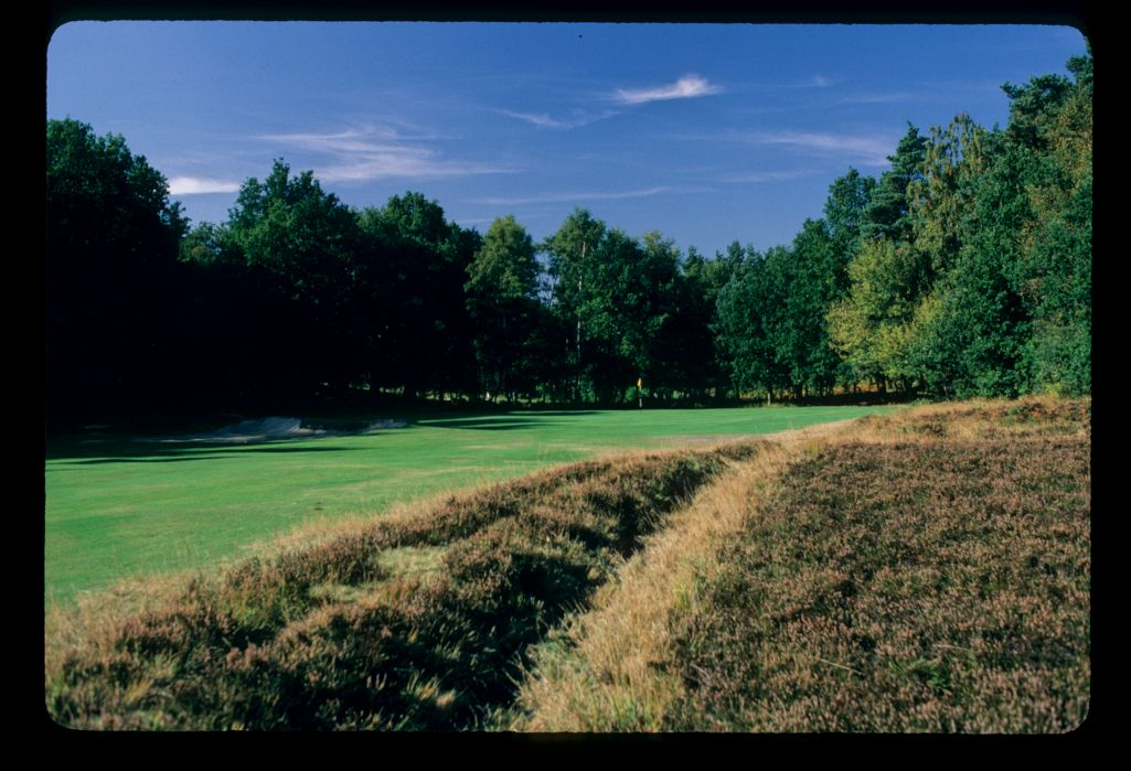 The 14th green on the Sunningdale Golf Course