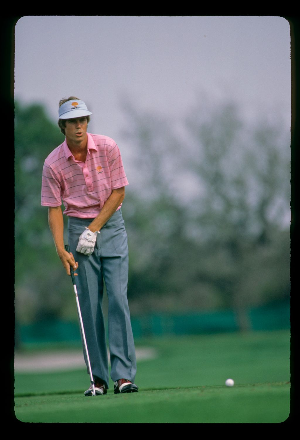 Paul Azinger considers his putt at the Bay Hill Classic Championship