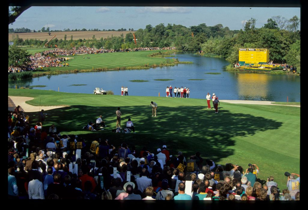 The 18th hole of The Belfry at the 1989 Ryder Cup
