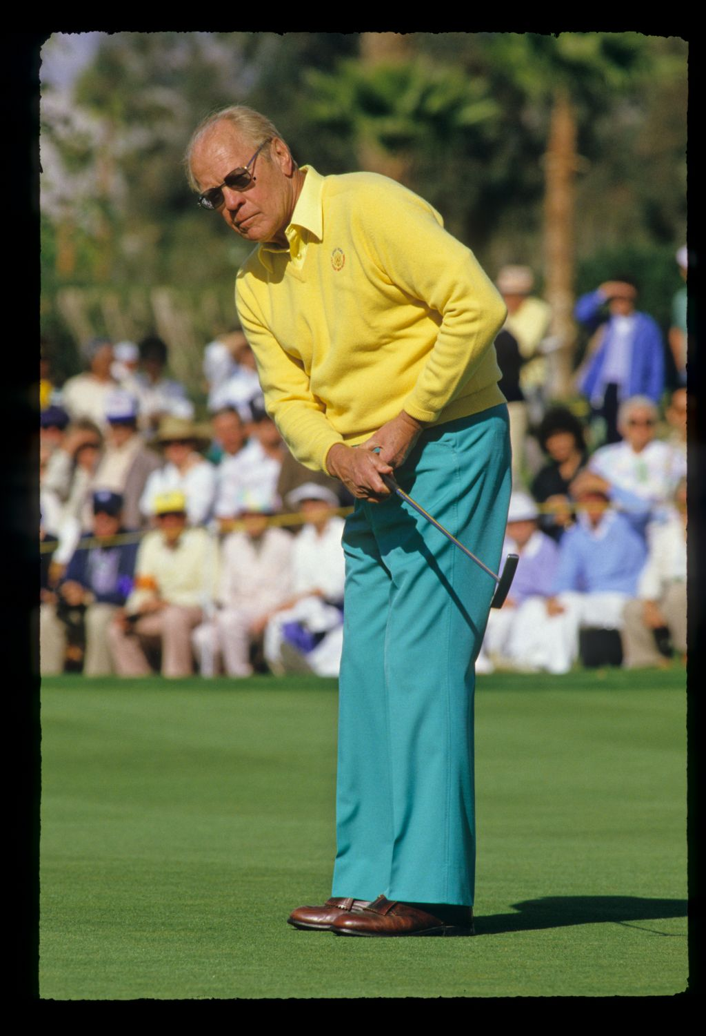 President Gerald Ford on the green at the Bob Hope Chrysler Classic Golf Championship