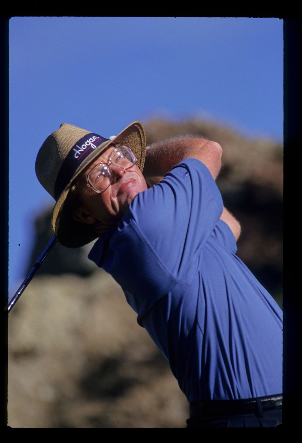 Golfer Tom Kite from the tee at the 1993 Shark Shootout
