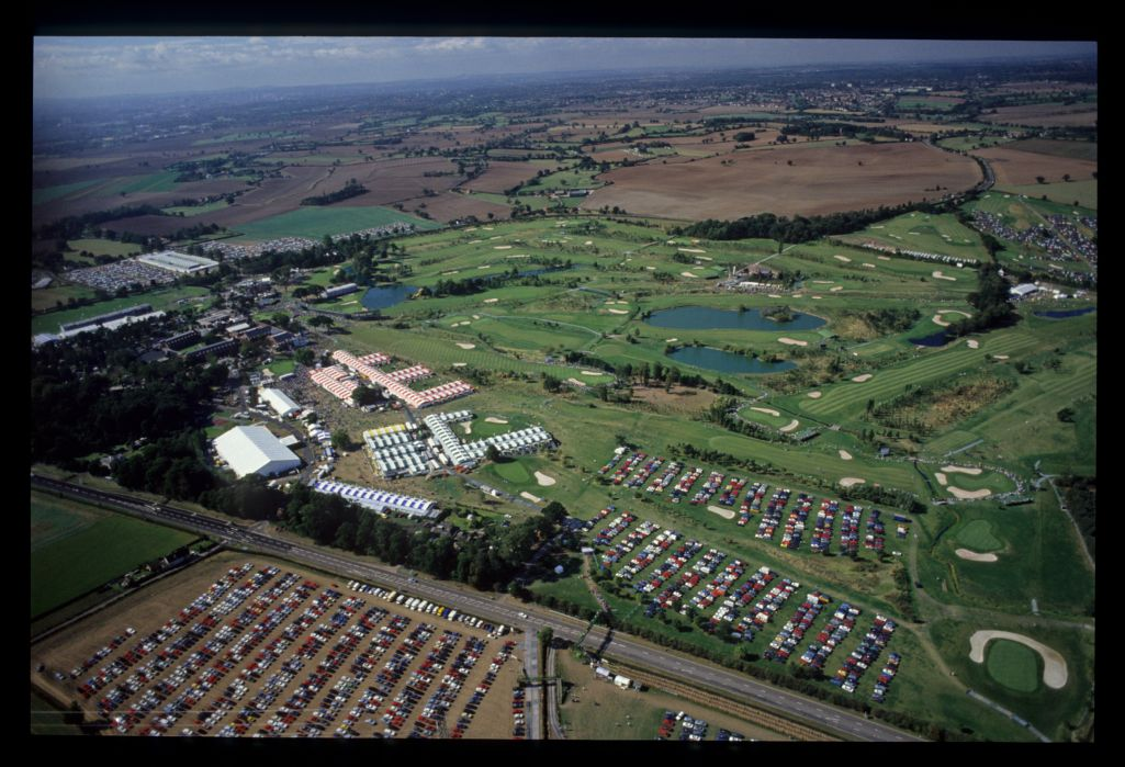 A view fro the air of The Belfry at the 1989 Ryder Cup