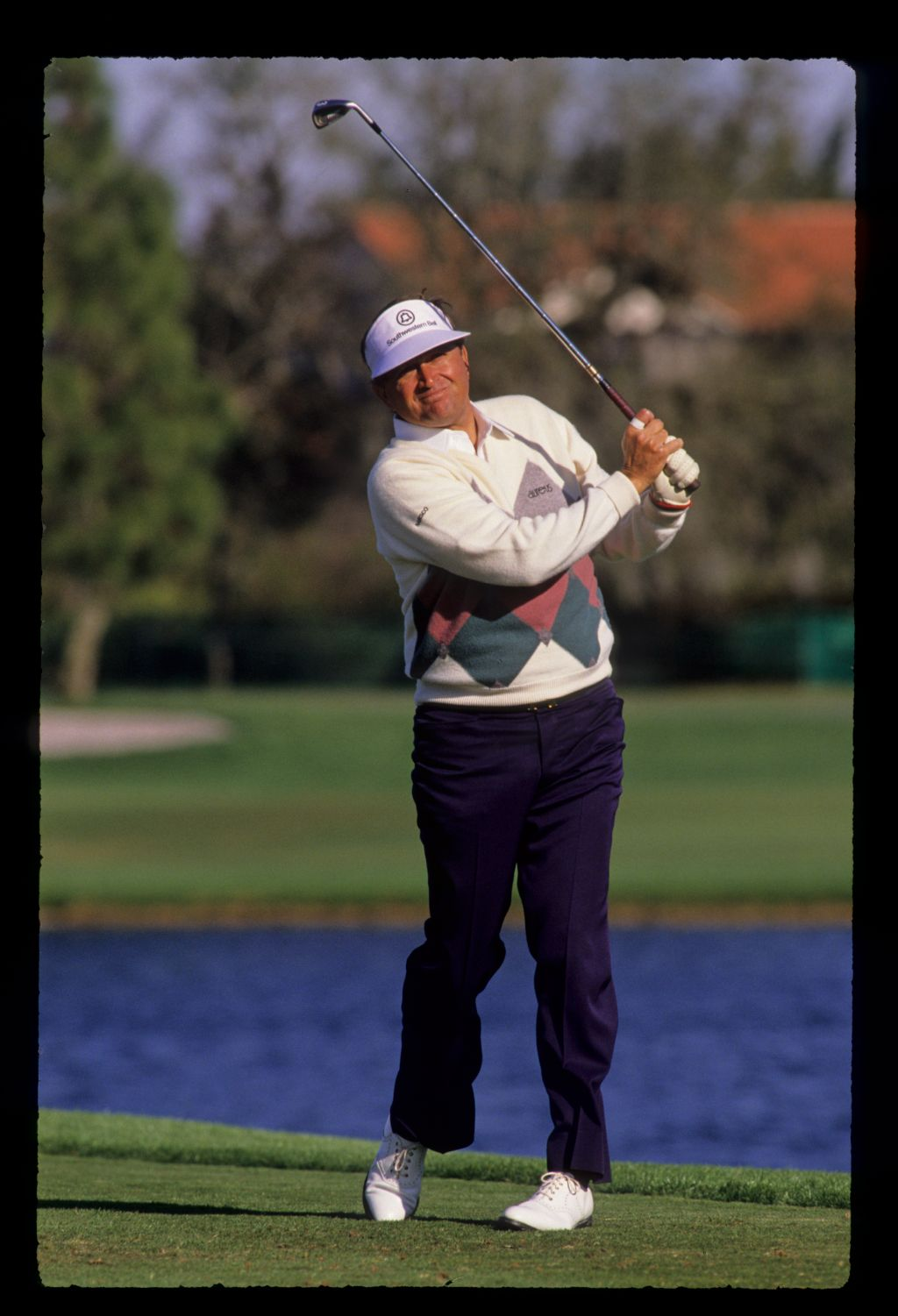 American golfer Ray Floyd on the tee at the 1989 Bay Hill Nestle Invitational