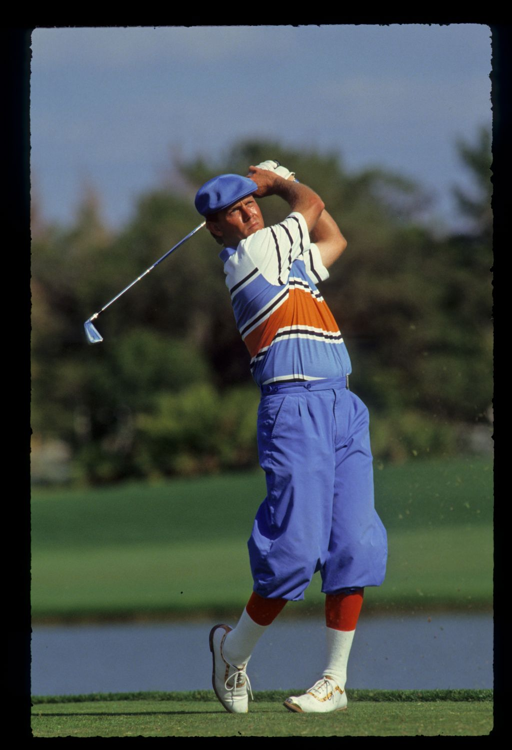 Golfer Payne Stewart shows form at the 1990 Bay Hill Nestle Invitational