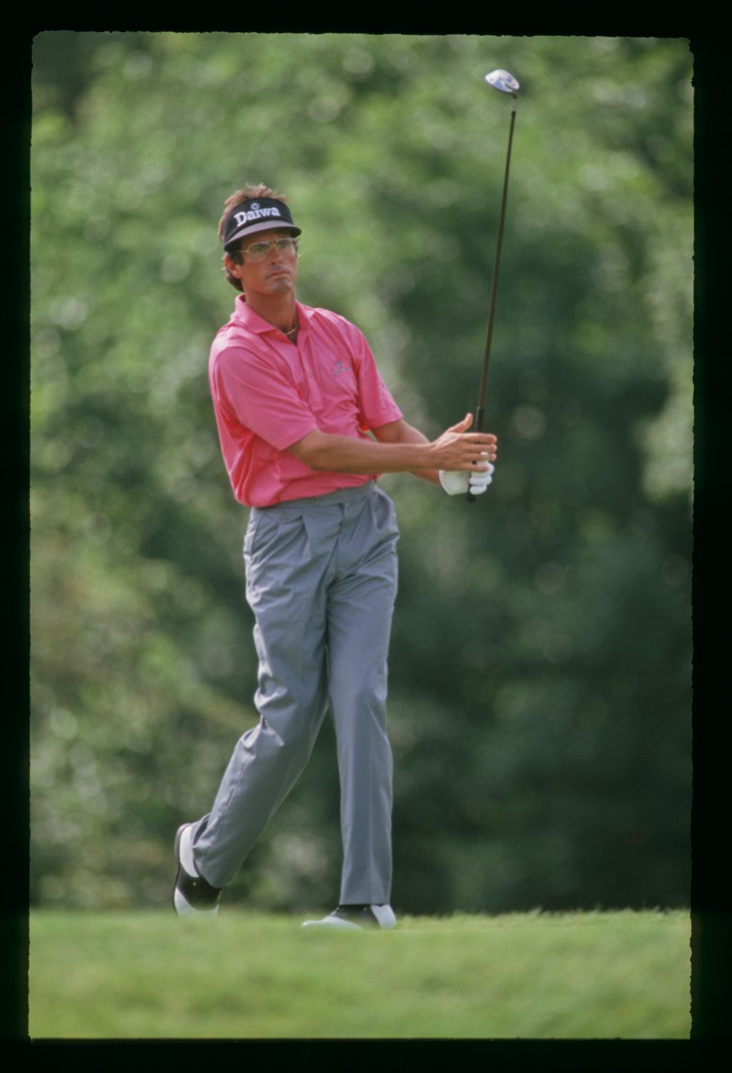 Australian golfer Ian Baker-Finch tees off at the 1991 US Open