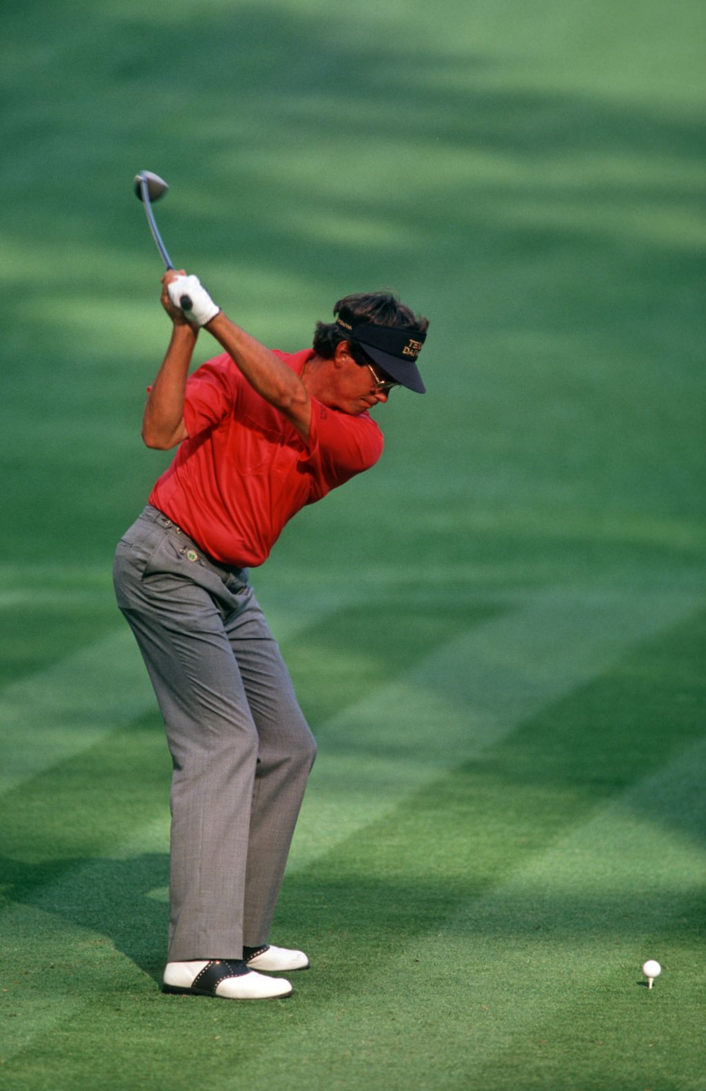 Australian golfer Ian Baker-Finch on the tee at the 1992 Masters