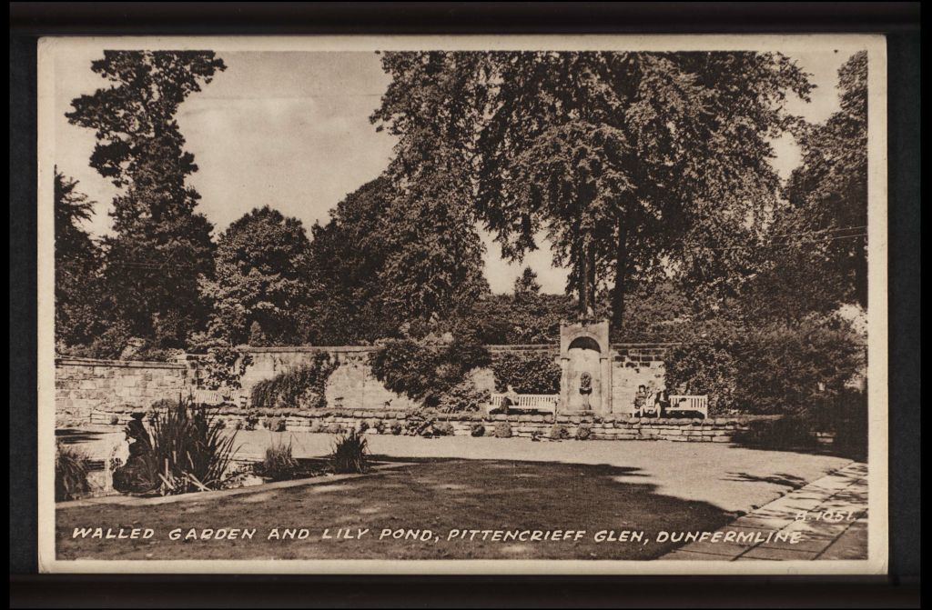 Walled Garden and Lily Pond, Pittencrieff Glen, Dunfermline.