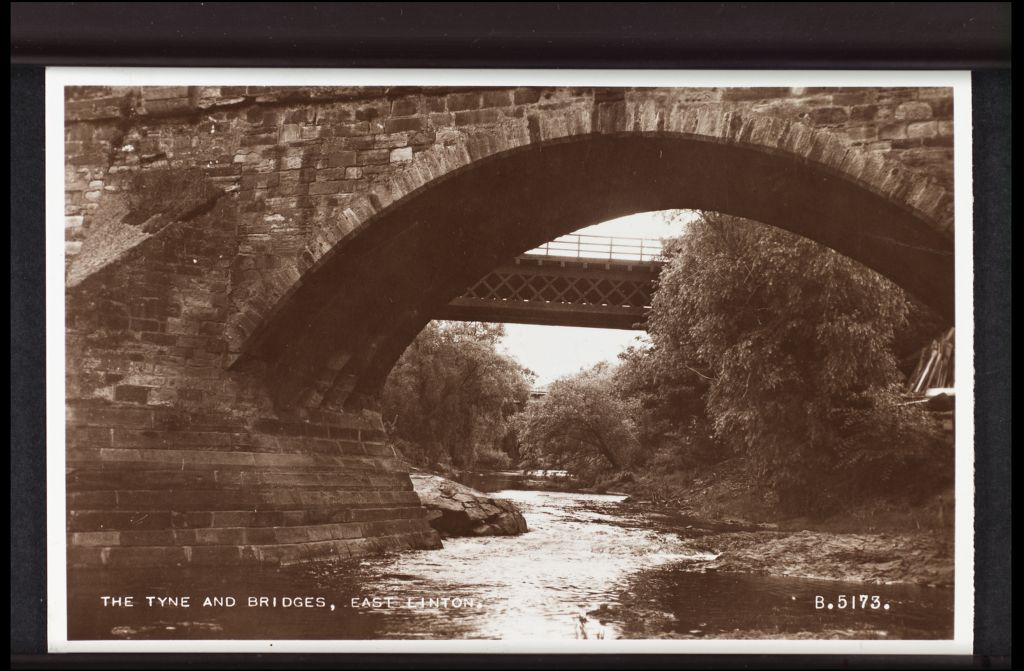 The [River] Tyne and Bridges, East Linton.