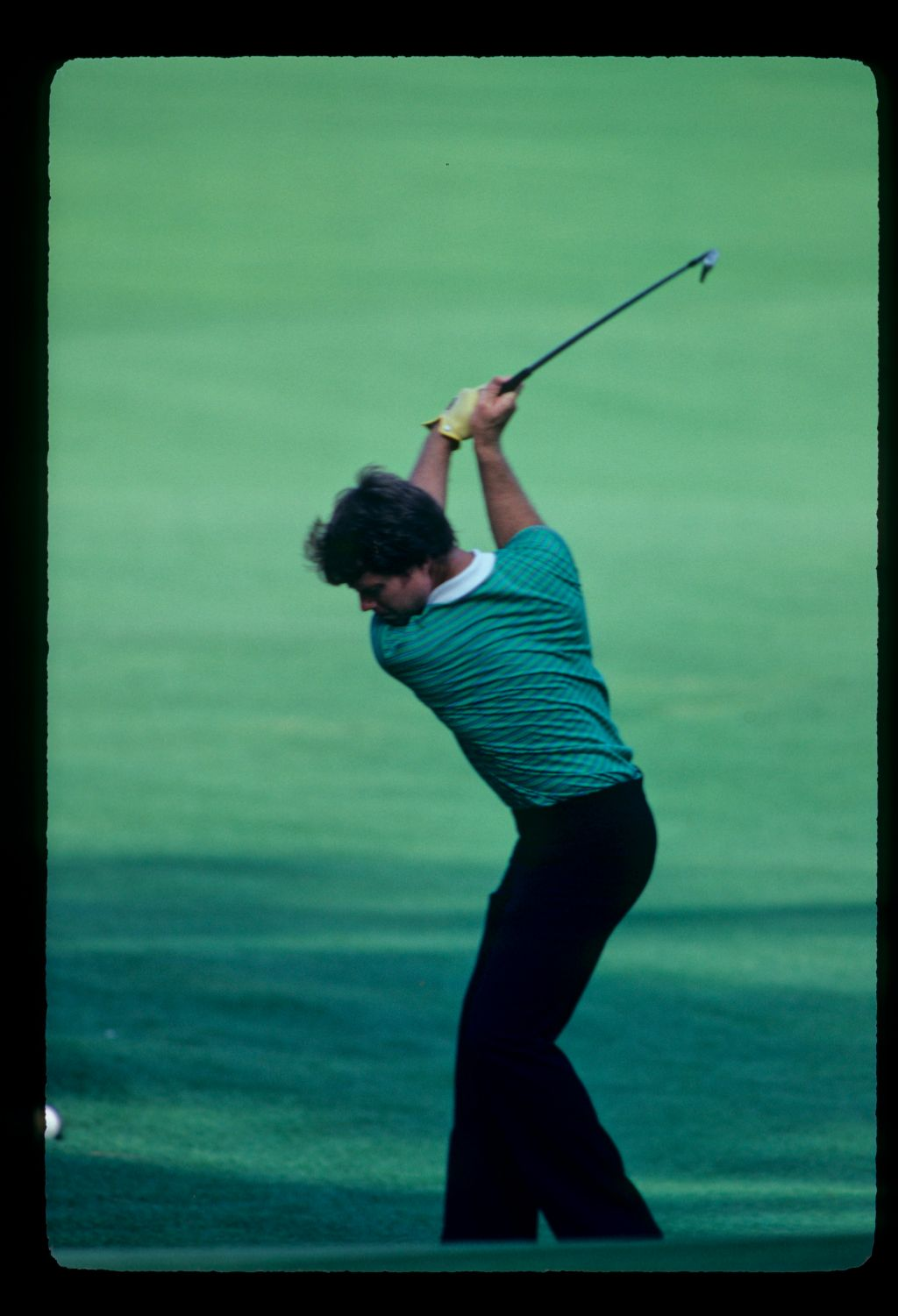 The fully loaded backswing of Tom Watson on his way to winning the 1981 Masters