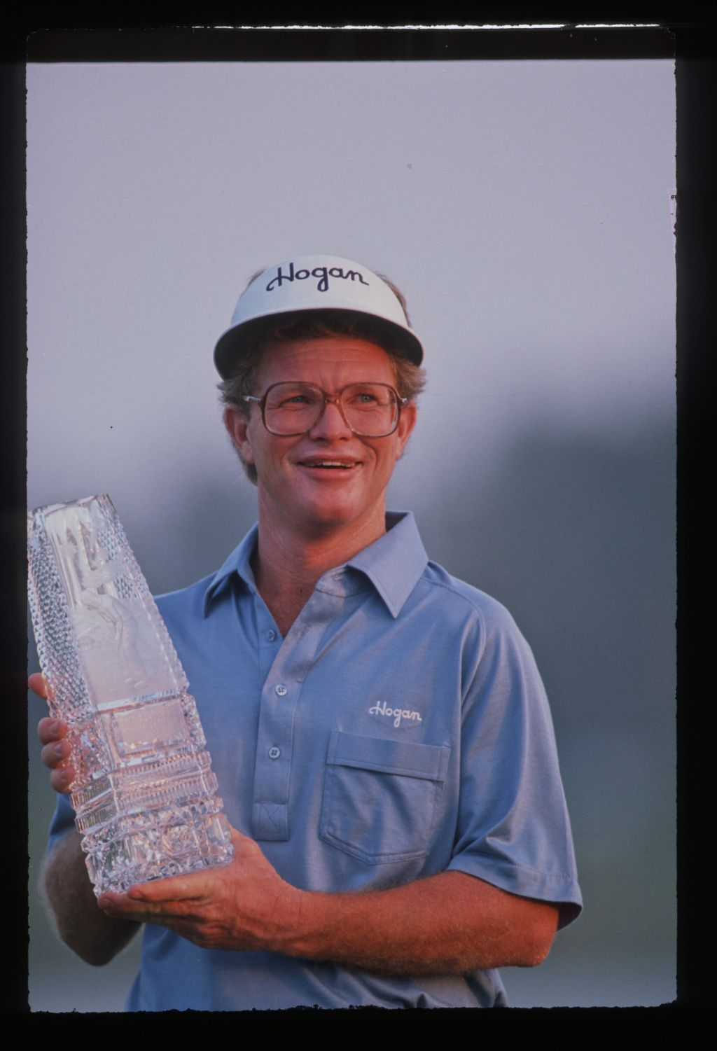 Winner Tom Kite lifts the trophy at the 1989 Players Championship at Sawgrass