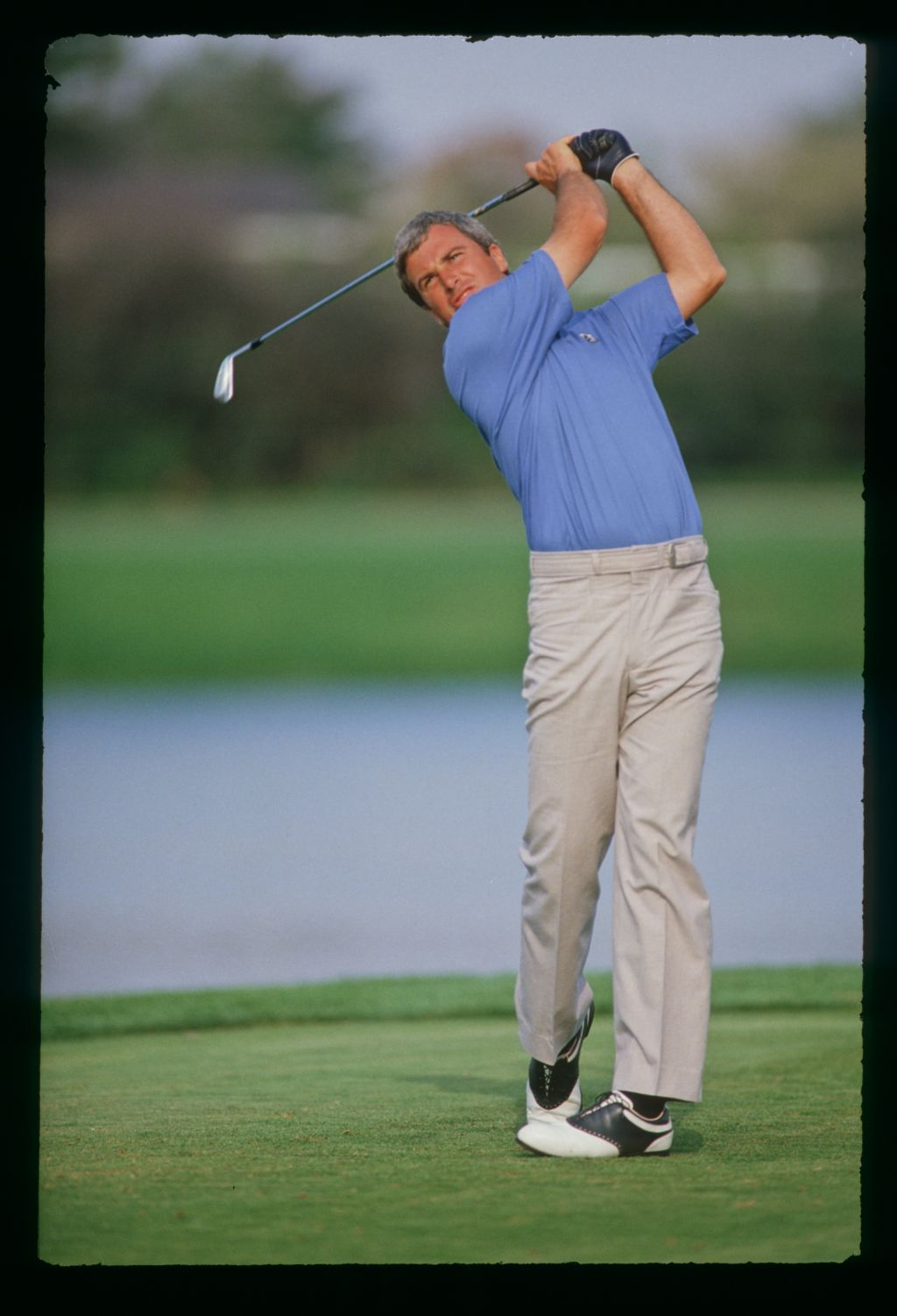 Curtis Strange on the tee at the 1987 Hertz Bay Hill Classic