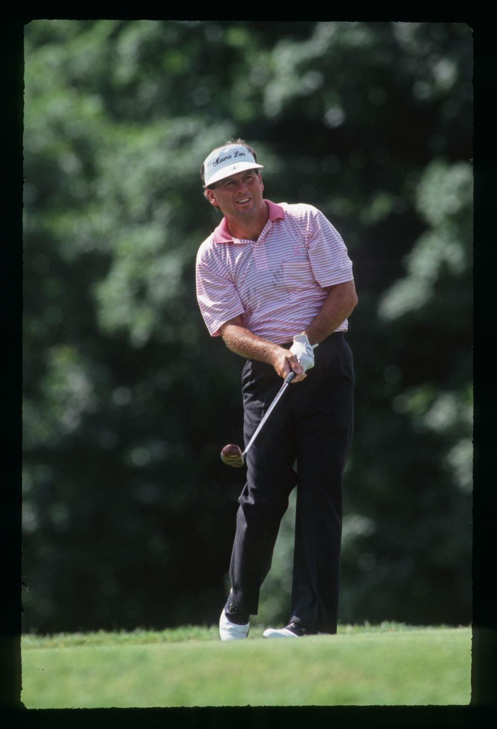 Golfer Lanny Wadkins on the tee at Hazeltine during the 1991 United States Open Championship