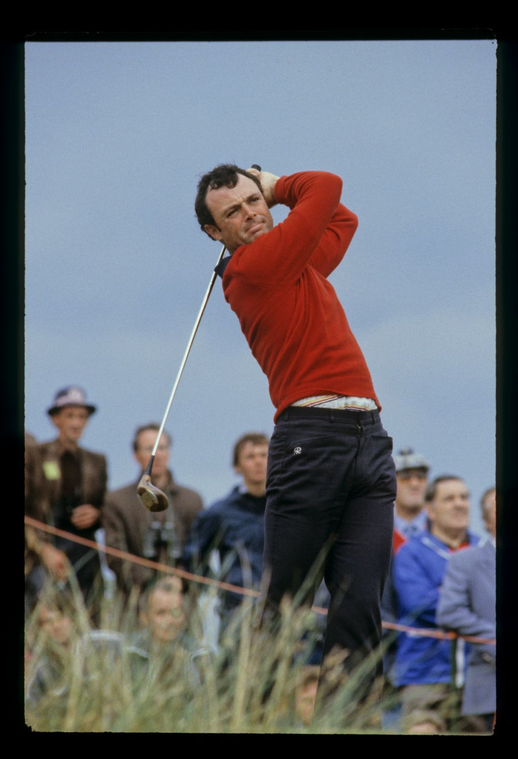 English golfer Ian Mosey driving at the 1980 Open Championship