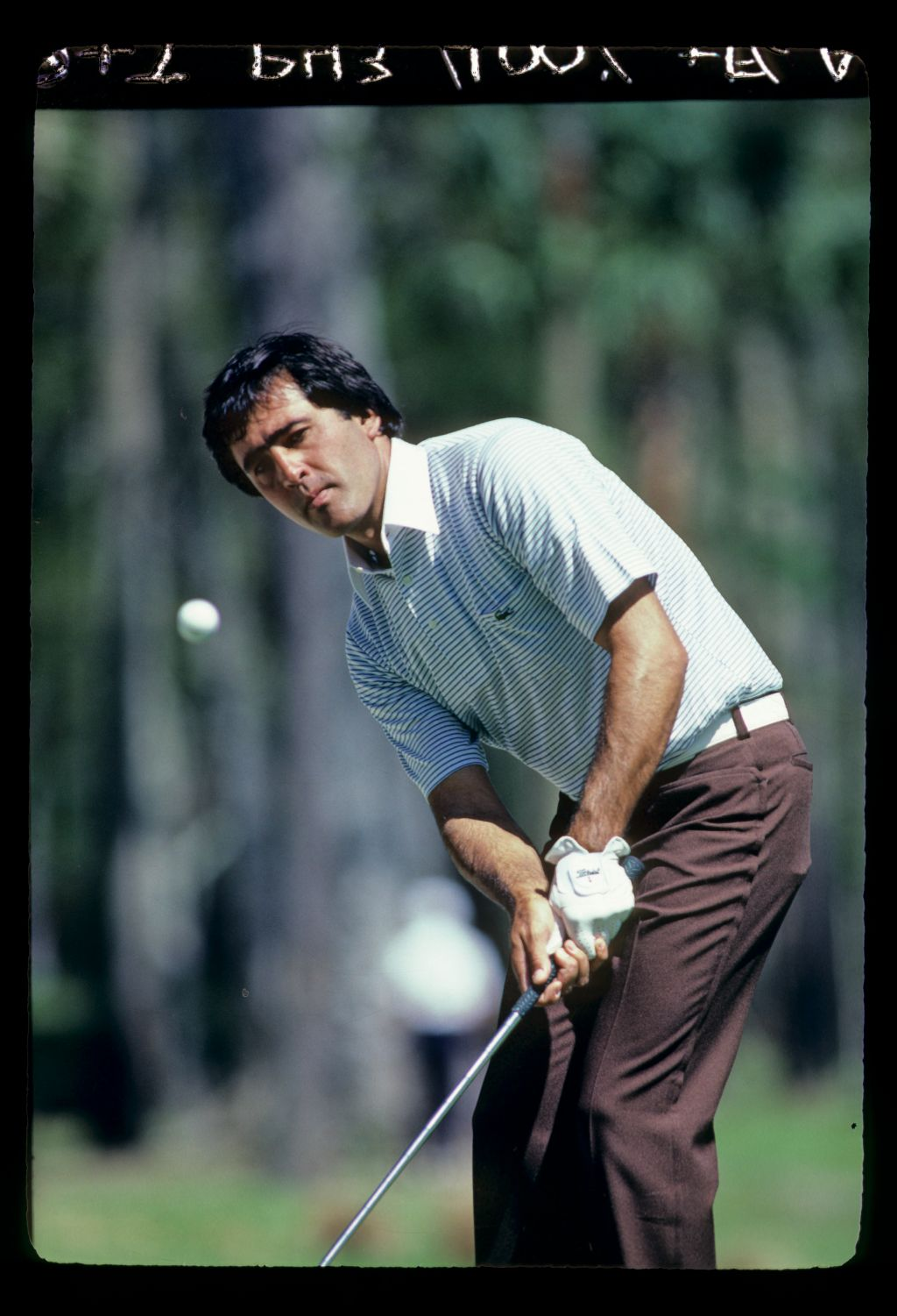 Severiano Ballesteros utilising his legendary short game at the 1983 TPC
