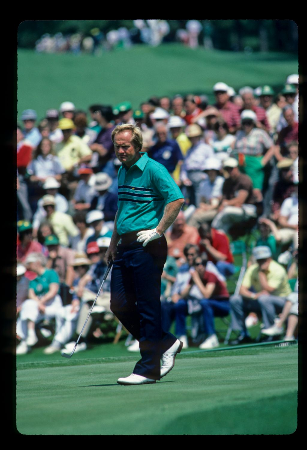 Jack Nicklaus stalking the green during the 1984 Masters