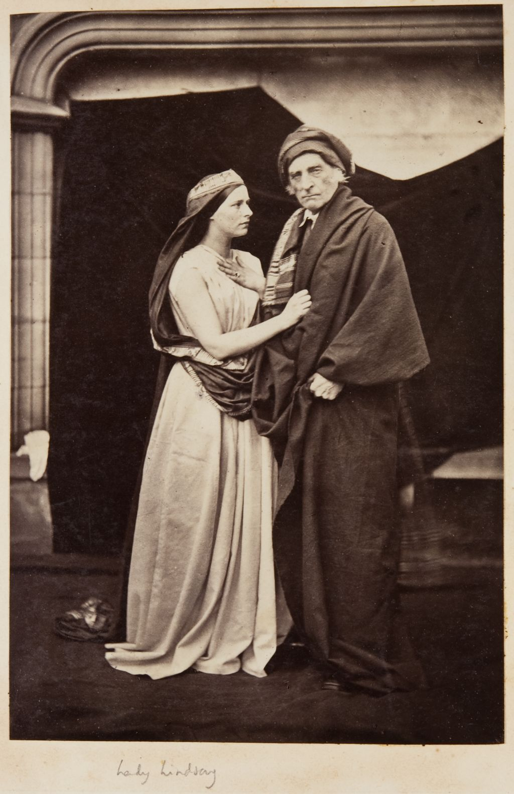 Lady Lindsay and unknown man.