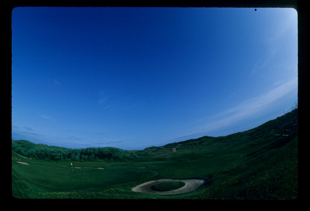 A fish-eye view of Royal Birkdale ready for the 1983 Open Championship