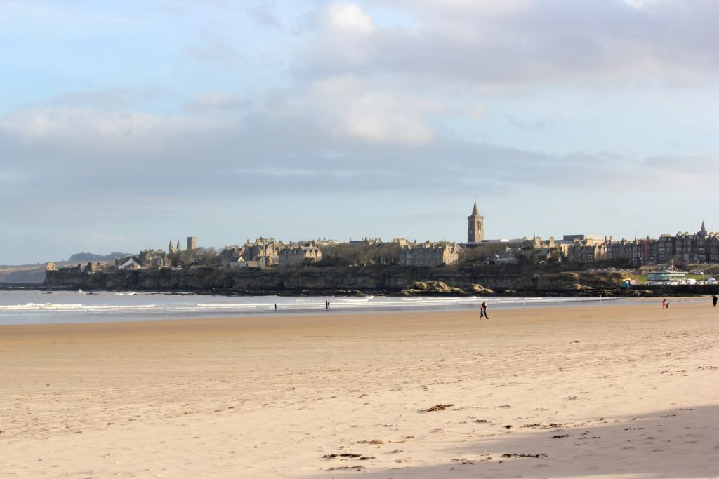 [St Andrews town from West Sands]