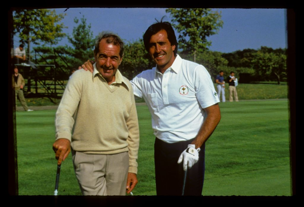 Severiano Ballesteros with the late Bob Torrance at the 1987 Ryder Cup