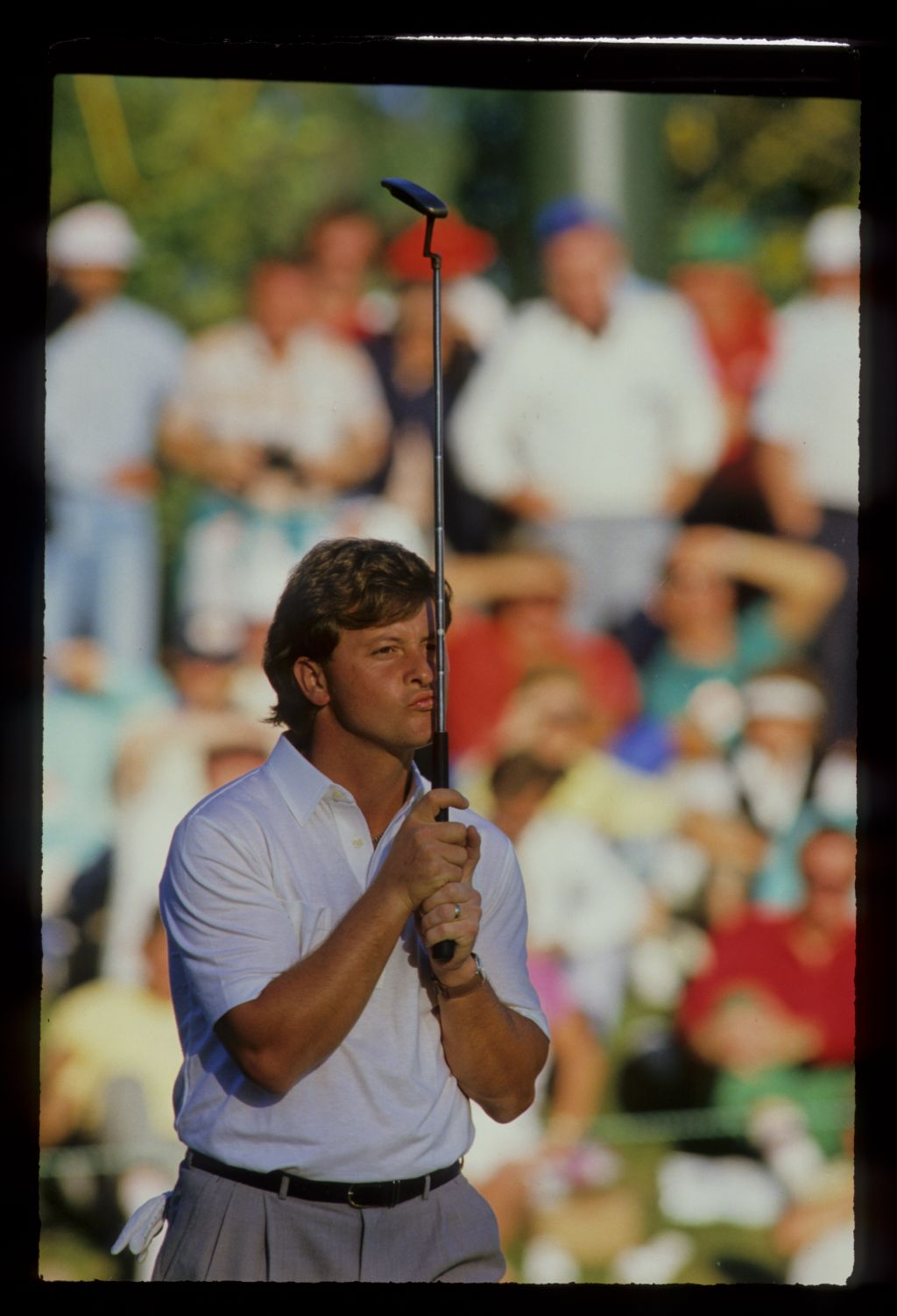 Ian Woosnam kissing his putter at the 1987 Ryder Cup