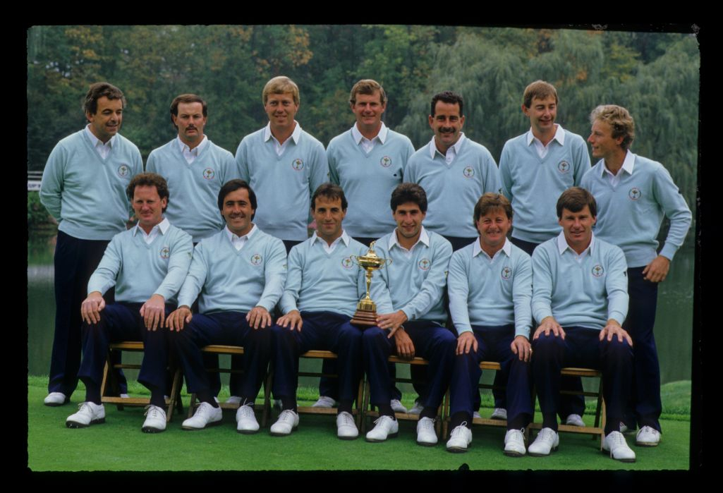 1987 European Ryder Cup team presented before the match started