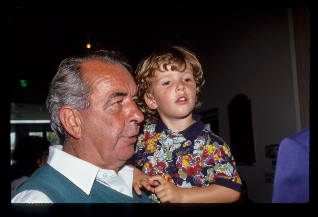 Bob Torrance and grandson enjoying the hospitality at the 1991 Ryder Cup