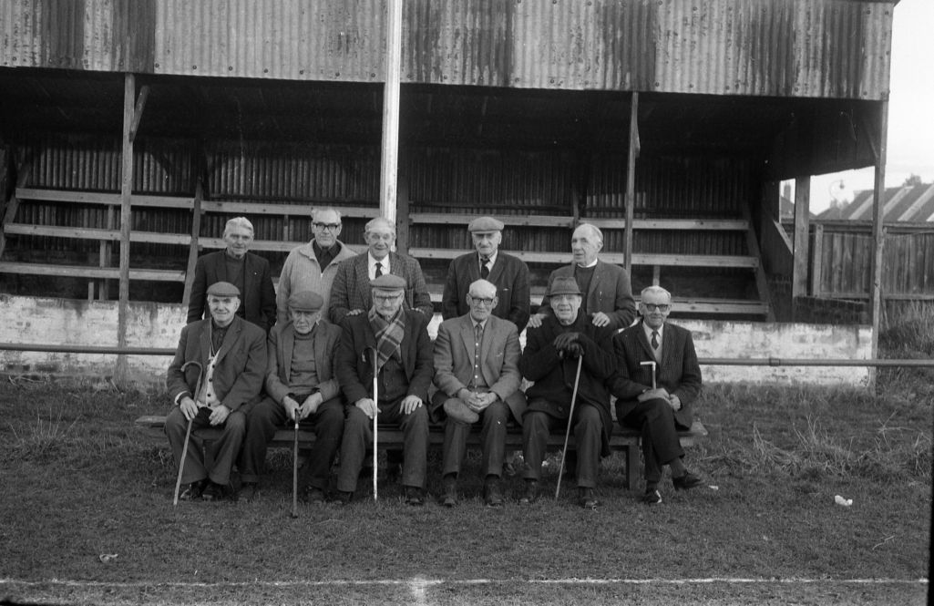 Pensioners at the Recreation Stand, St Andrews United Grounds, St Andrews.