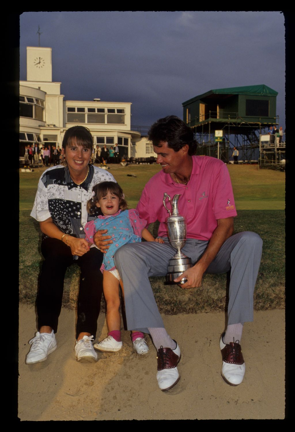 Ian Baker Finch and his family with the Claret Jug after winning the 1991 Open Championship