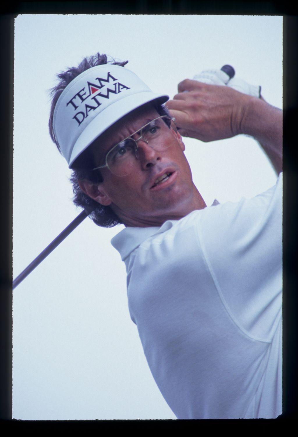 Ian Baker Finch watching his shot closely during the 1993 US Open