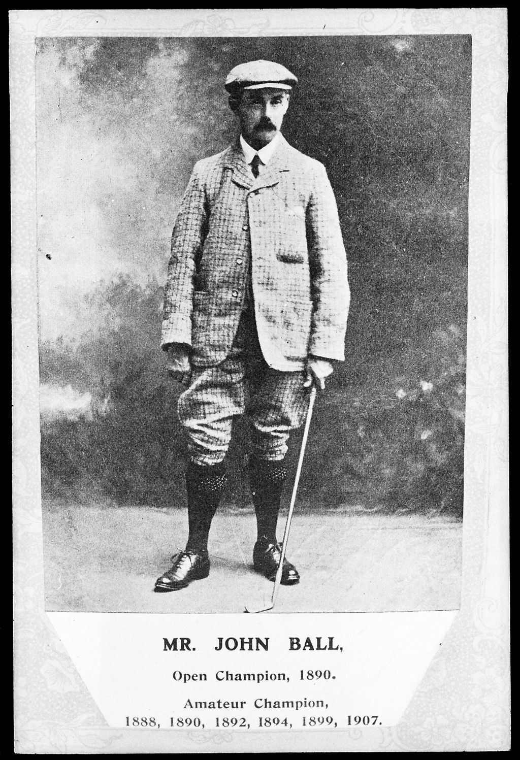 [Portrait of Golfer John Ball, ca. 1890's]