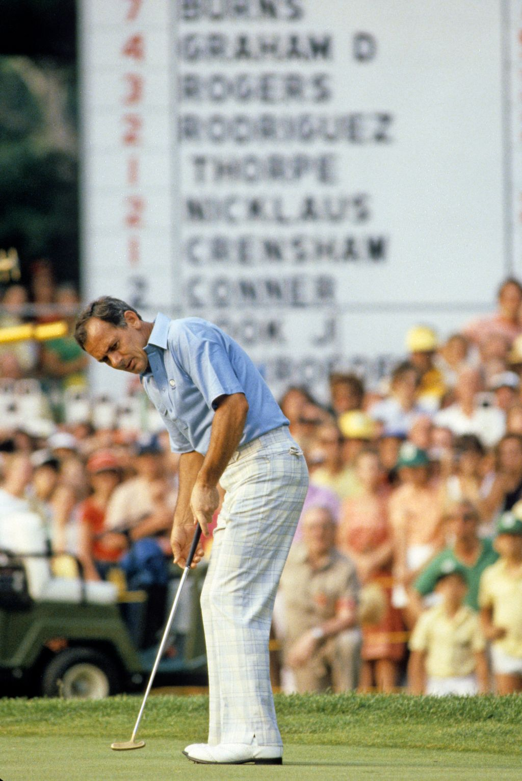 David Graham putting for victory at the 1981 US Open