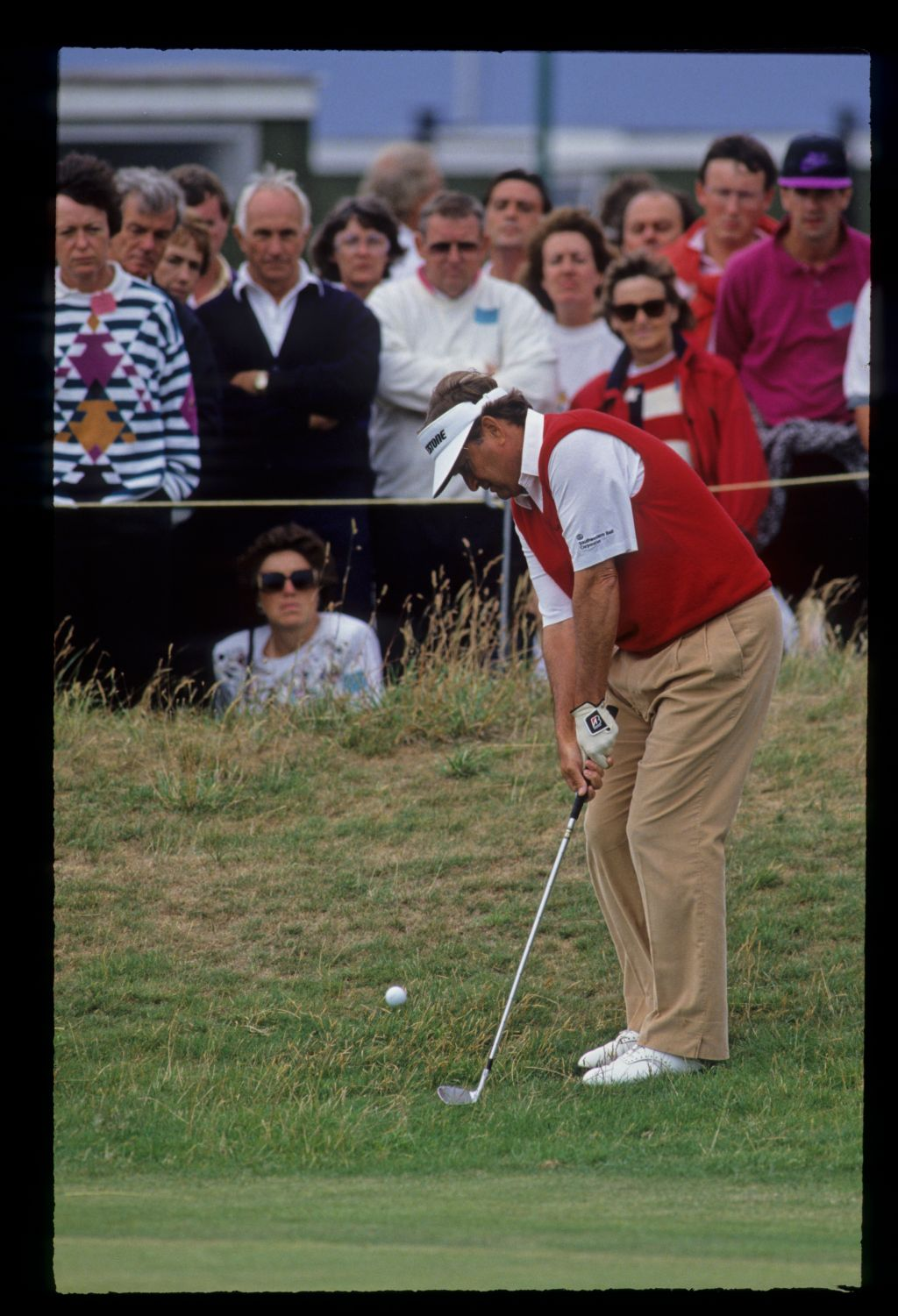 Raymond Floyd chipping from the greenside rough during the 1992 Open Championship
