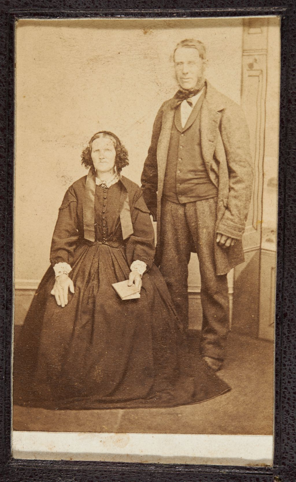 Untitled portrait of middle-aged woman and man