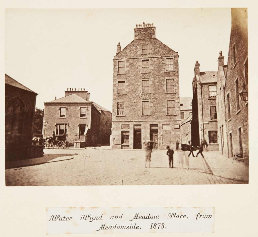 Water Wynd and Meadow Place, from Meadowside [Dundee]. 1873