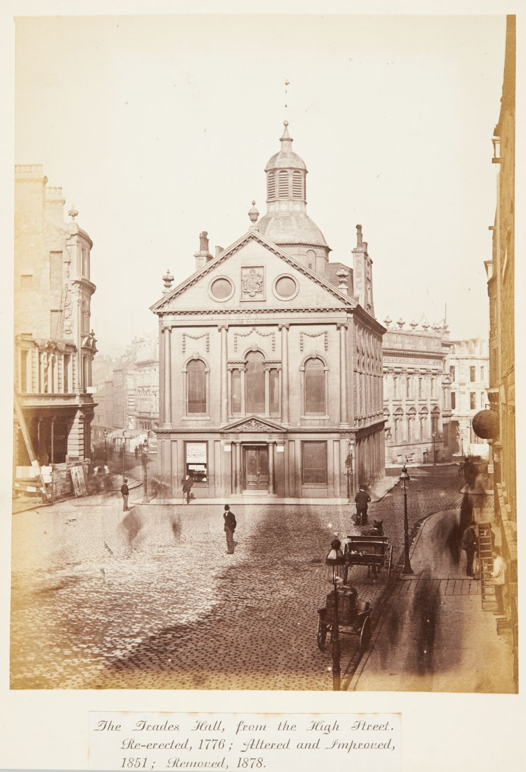 The Trades Hall, from the High Street [Dundee]. Re-erected, 1776; Altered and Improved, 1851; Removed, 1878.