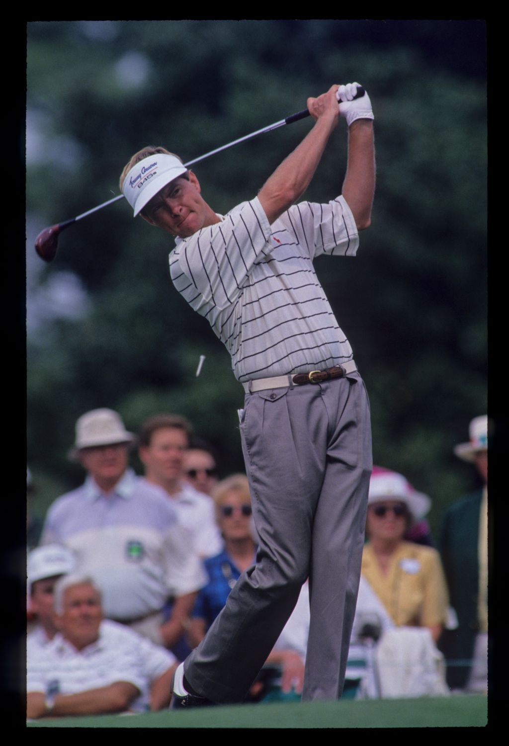 Davis Love III following through on the tee during the 1992 Masters