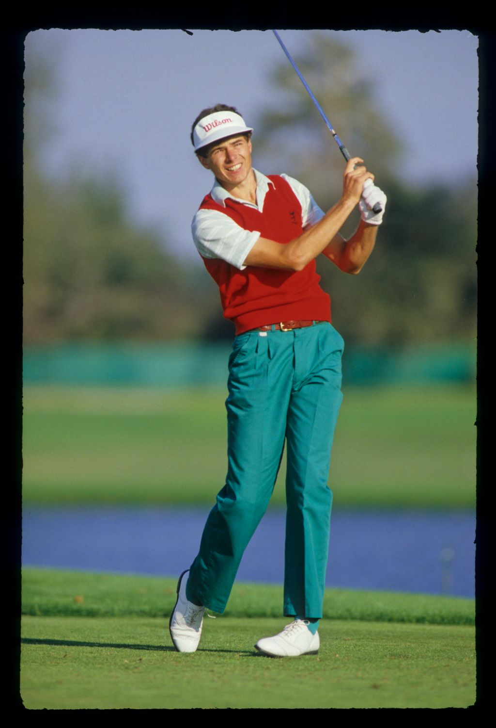 Philip Parkin watching closely from the tee during the 1987 Hertz Bay Hill Classic